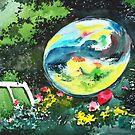 Bubble Reflections by Anil Nene