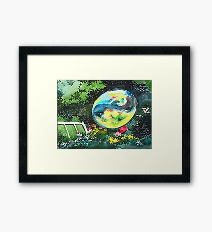 Bubble Reflections Framed Print