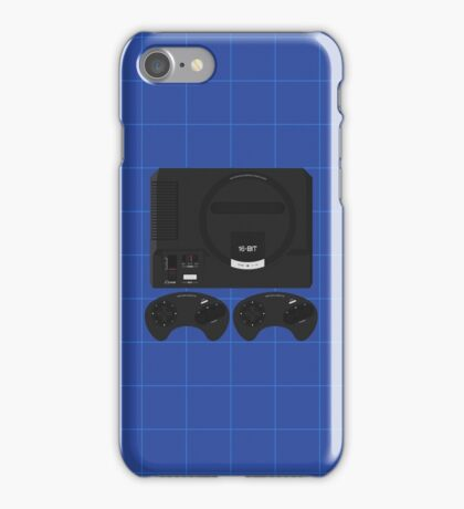 Megadrive single (blue) iPhone Case/Skin