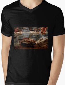 Danube boats, Autumn colors Mens V-Neck T-Shirt