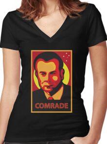 Gough Whitlam - Comrade Women's Fitted V-Neck T-Shirt