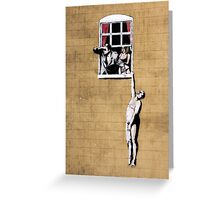 Banksy - Park Street Indiscretion Greeting Card