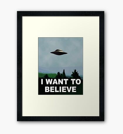 The X Files - I want to believe  Framed Print