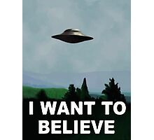 The X Files - I want to believe  Photographic Print