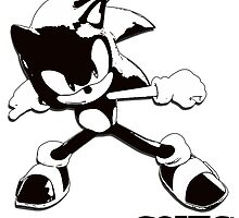 Black and White Sonic Design by ChaosSpyro