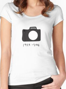 Bill Cunningham Tribute: 1929 - 2016 Women's Fitted Scoop T-Shirt