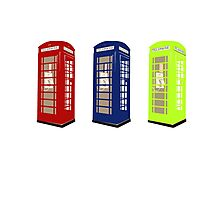 The Phone Booths Photographic Print