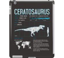 Ceratosaurus Dinosaur Fun Facts Science iPad Case/Skin