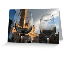 A Drink in Tuscany Greeting Card