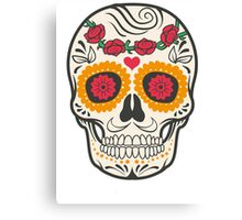 skull rose Canvas Print