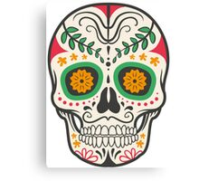 skull green Canvas Print
