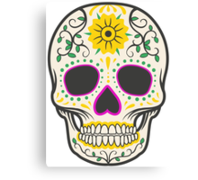 skull yellow Canvas Print