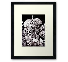 Progress ink pen surreal drawing  Framed Print