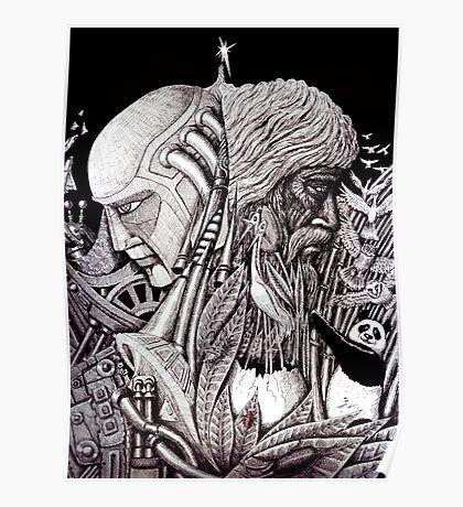 Progress ink pen surreal drawing  Poster