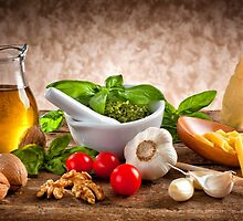 Ingredients for Pesto by Antonio Gravante