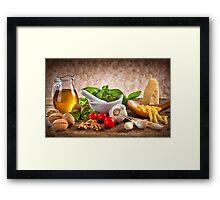 Ingredients for Pesto Framed Print