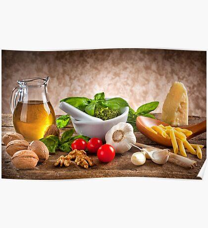 Ingredients for Pesto Poster