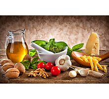 Ingredients for Pesto Photographic Print