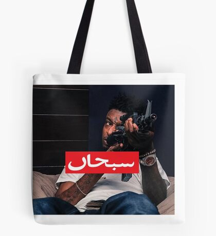 21 Savage X Supreme Box Logo TRAP Tote Bag