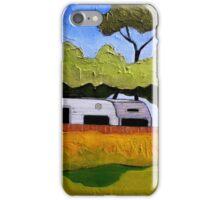 Australian Backyard with Caravan iPhone Case/Skin