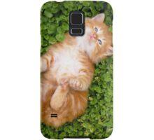 Puppy red cat Samsung Galaxy Case/Skin