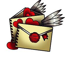 letters on Valentine's Day by Koalka