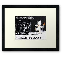 Banksy - The Mild Mild West Framed Print
