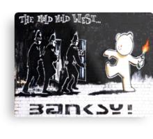 Banksy - The Mild Mild West Metal Print