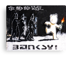Banksy - The Mild Mild West Canvas Print