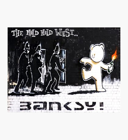 Banksy - The Mild Mild West Photographic Print