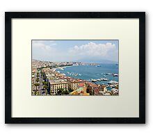Panoramic view of Naples from Posillipo Framed Print