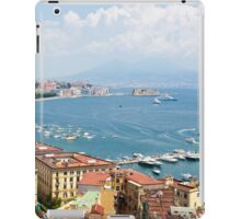Panoramic view of Naples from Posillipo iPad Case/Skin