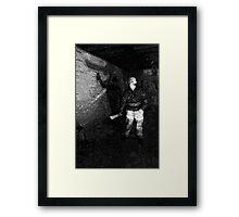 Jason in his Barn Framed Print