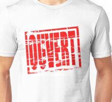 Ouvert red rubber stamp effect Unisex T-Shirt