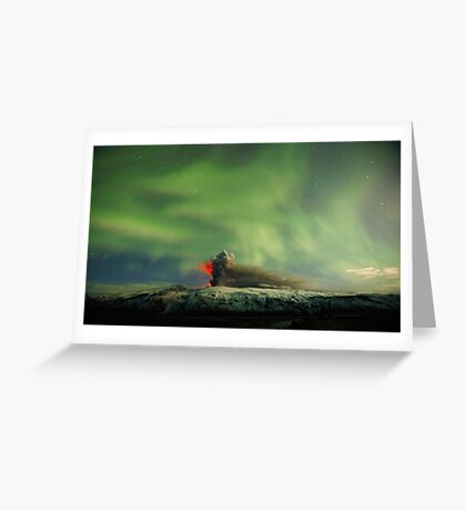 Northern Lights Eruption Greeting Card