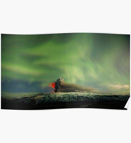Northern Lights Eruption Poster