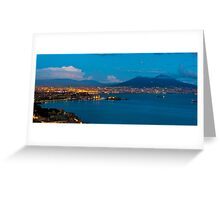 Naples by Night Greeting Card