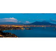 Naples by Night Photographic Print