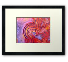 Expecting Someone? (Lace Agate) Framed Print
