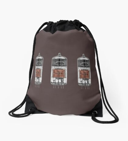 Retro Glass Valve Drawstring Bag