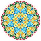 Psychedelic jungle kaleidoscope ornament 22 by Andrei Verner