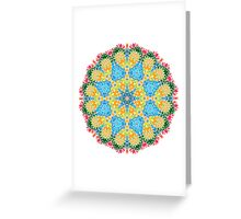 Psychedelic jungle kaleidoscope ornament 22 Greeting Card