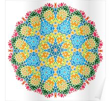 Psychedelic jungle kaleidoscope ornament 22 Poster