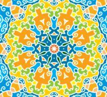 Psychedelic jungle kaleidoscope ornament 22 Sticker