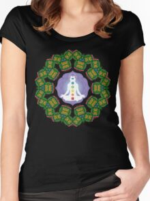 Psychedelic jungle kaleidoscope ornament 23 Women's Fitted Scoop T-Shirt