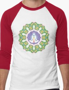 Psychedelic jungle kaleidoscope ornament 23 Men's Baseball ¾ T-Shirt