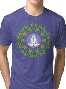 Psychedelic jungle kaleidoscope ornament 23 Tri-blend T-Shirt
