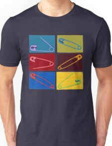 6 multi-colored safety pin Unisex T-Shirt