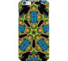 Psychedelic jungle kaleidoscope ornament 24 iPhone Case/Skin