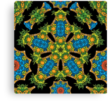 Psychedelic jungle kaleidoscope ornament 24 Canvas Print